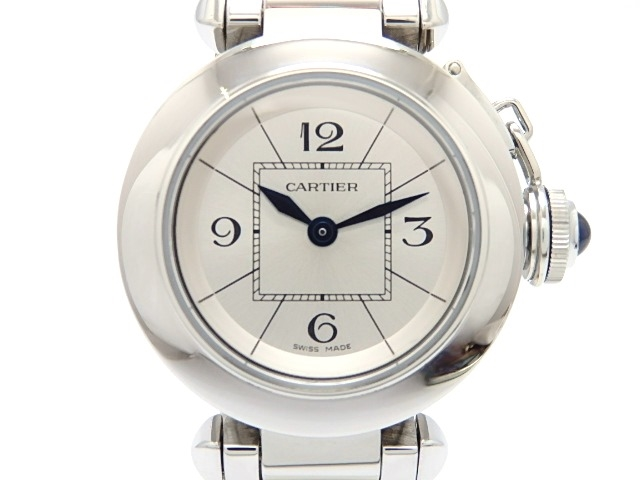 [送料無料]Cartier カルティエ ミスパシャ 女性用腕時計 クオーツ ステンレス 【474】【中古】【大黒屋】