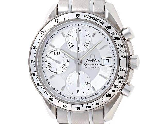 OMEGA 時計 スピードマスター デイト 3513.30 オートマチック SS シルバー文字盤【送料無料】【439】【中古】【大黒屋】