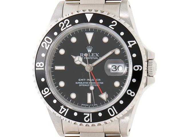 [送料無料]ROLEX ロレックス GMTマスター1 16700 ブラック トリチウム SS U番 【460】【中古】【大黒屋】