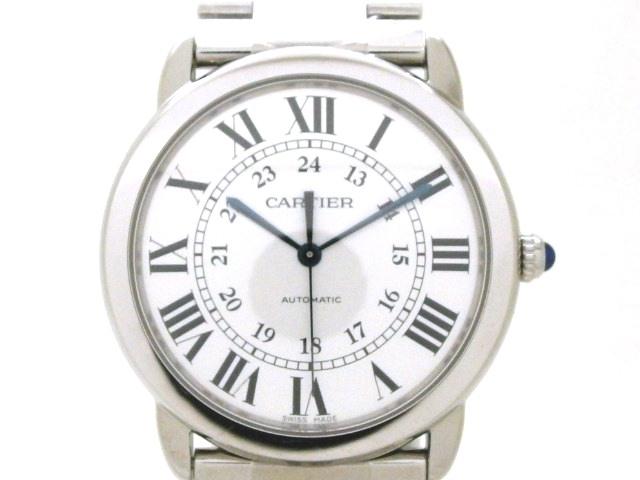 【送料無料】Cartier カルティエ ロンドソロドゥカルティエ MM WSRN0012 オートマチック 【432】【中古】【大黒屋】