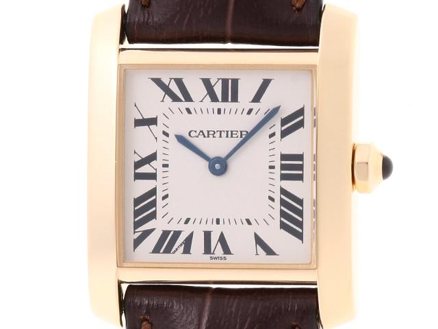 【送料無料】Cartier カルティエ タンクフランセーズMM W5000356 クオーツ YG 【432】【中古】【大黒屋】