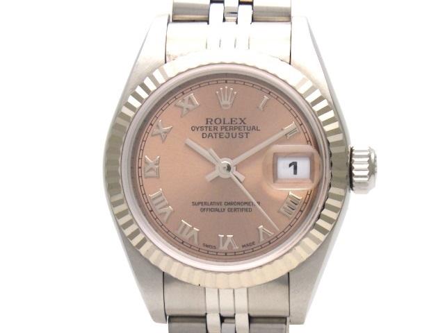 【送料無料】ROLEX ロレックス デイトジャスト 79174 ピンクローマ ホワイトゴールド ステンレス オートマチック  【438】【中古】【大黒屋】