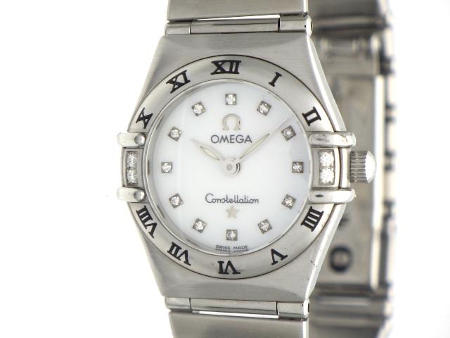 【送料無料】OMEGA オメガ レディース 時計 コンステレーション クオーツ 1566.76 ホワイトシェル SS 12PD  【436】【中古】【大黒屋】