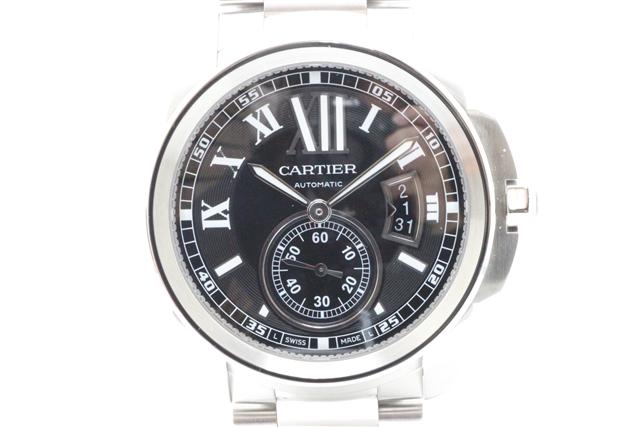 【送料無料】Cartier カルティエ SS カリブルドゥカルティエ W7100016 黒文字盤 自動巻【中古】【大黒屋】