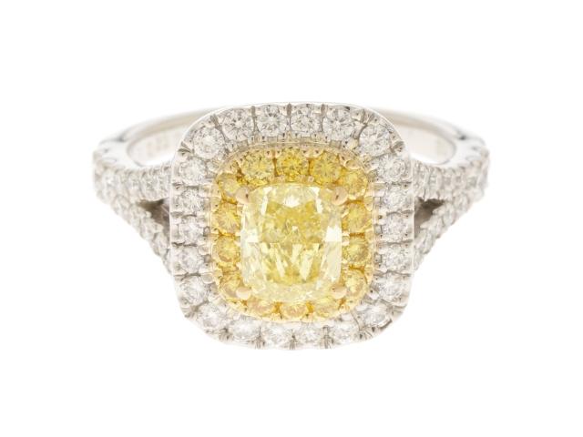 【送料無料】JEWELRY ノンブランドジュエリー K18 Pt900 ダイヤモンド リング 9.5号 【430】【中古】【大黒屋】