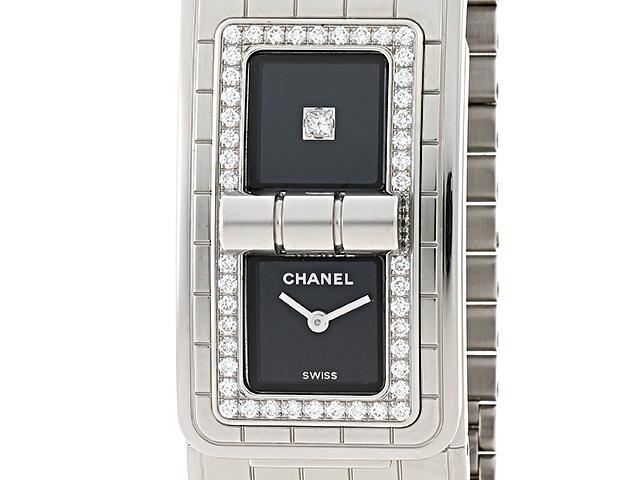 【送料無料】CHANEL シャネル コードココ H5145 ステンレス ダイヤモンド クオーツ【204】【中古】【大黒屋】