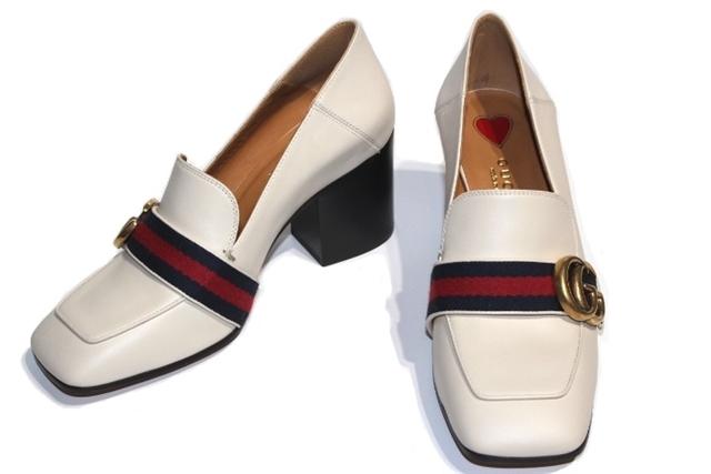 sports shoes d9387 4129a 423535 ミッドヒールローファー ホースビット レザー パンプス ...