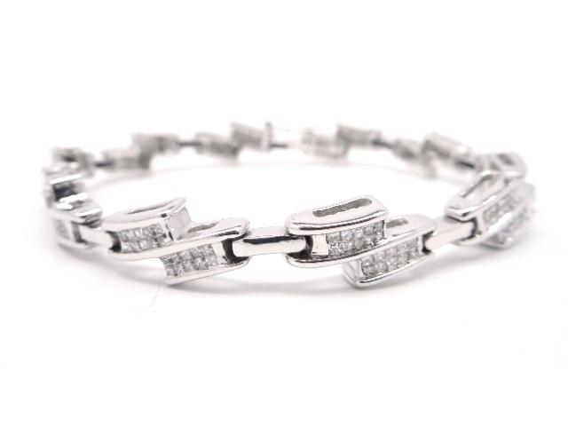 【送料無料】JEWELRY 貴金属・宝石 ダイヤブレスレット ブレスレット K18WG ホワイトゴールド D2.00ct 20.1g ミステリーセッティング 【200】【中古】【大黒屋】
