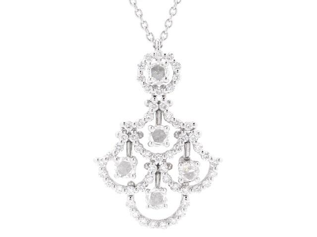 【送料無料】DAMIANI ダミアーニ WG ダイヤモンド ジュリエットネックレス 【430】【中古】【大黒屋】