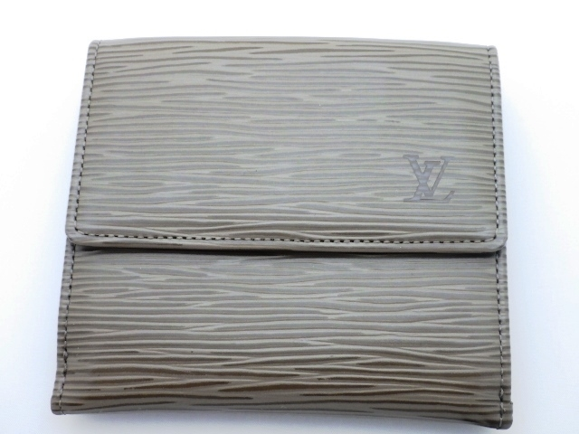 LOUIS VUITTON ルイヴィトン 両面開きコンパクト財布 エピ ペッパー M6348C 【440】【中古】【大黒屋】