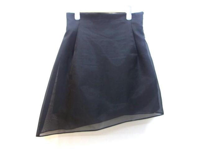 Dior クリスチャンディオール スカート シルク ブラック 38 【432】【中古】【大黒屋】