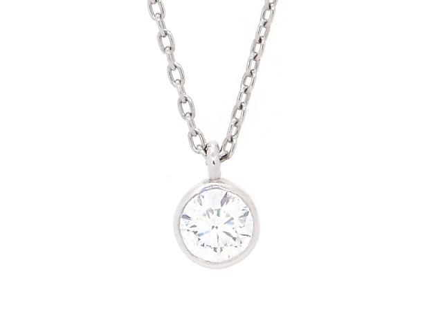 【送料無料】JEWELRY ノンブランドジュエリー Pt900 Pt850 ダイヤモンド ネックレス 【430】【中古】【大黒屋】