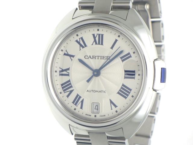【送料無料】Cartier カルティエ クレ・ドゥ・カルティエ WSCL0006 SS シルバー オートマチック 【460】【中古】【大黒屋】