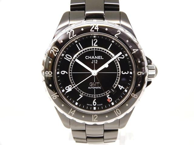 【送料無料】CHANEL シャネル 時計 J12GMT H2012 ブラック セラミック ステンレススチール オートマチック 【439】【中古】【大黒屋】