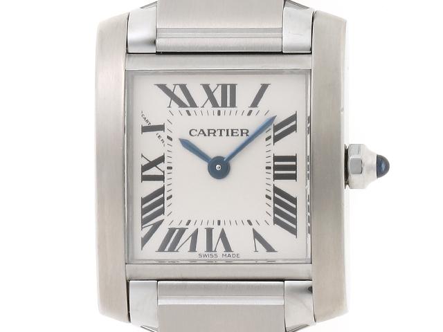 【送料無料】Cartier カルティエ タンクフランセーズSM SS ホワイト文字盤 W51008Q3 【460】【中古】【大黒屋】