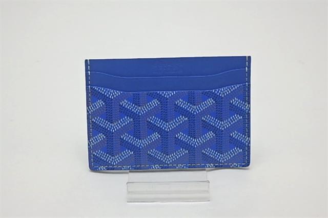 GOYARD ゴヤール/ カードケース/パスケース/ブルー【433】【中古】【大黒屋】