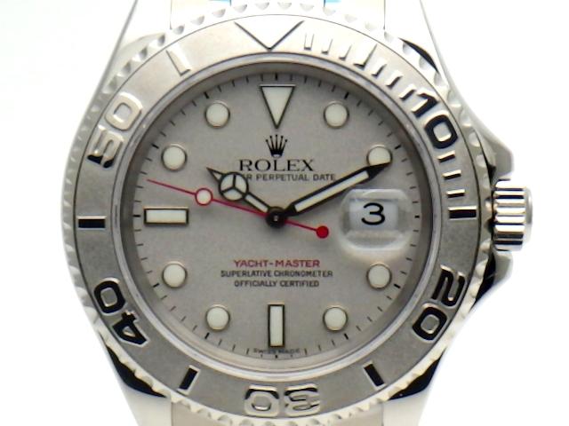 【送料無料】ROLEX ロレックス 時計 ヨットマスター ロレジウム オートマチック PT/SS 16622 K番【437】【中古】【大黒屋】