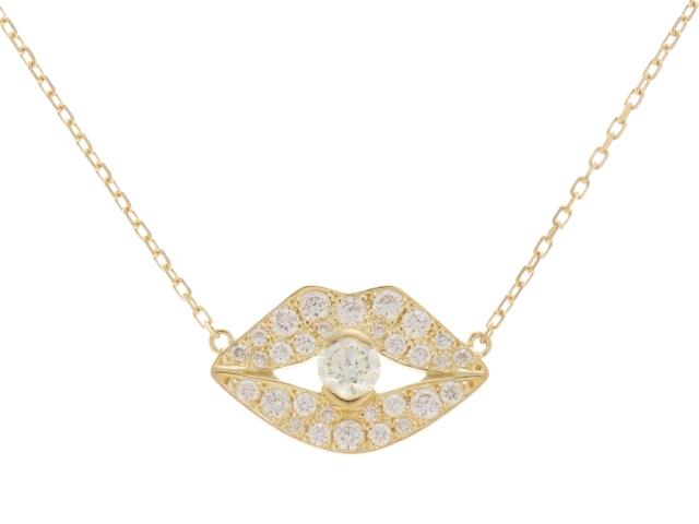 【送料無料】AHKAH アーカー K18 ダイヤモンド ビズーパヴェネックレス 【430】【中古】【大黒屋】
