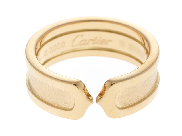 【送料無料】Cartier カルティエ C2 リング /イエローゴールド/7.5g/12号【434】【中古】【大黒屋】