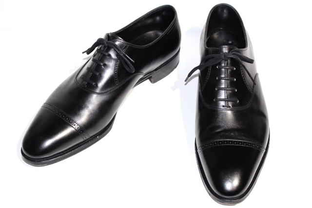 [送料無料]JOHN LOBB ジョンロブ 革靴 PHILIP2 フィリップ2 メンズ9 約27.5cm ブラック 黒 レザー ストレートチップ ツリー付き【200】【中古】【大黒屋】