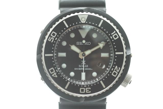 SEIKO セイコー 時計 プロスペックス ダイバースキューバ 限定モデル SBDN023 ブラック文字盤 ソーラー 【430】【中古】【大黒屋】