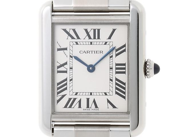 【送料無料】Cartier カルティエ タンク・ソロSM W520013 SS クオーツ 【460】【中古】【大黒屋】
