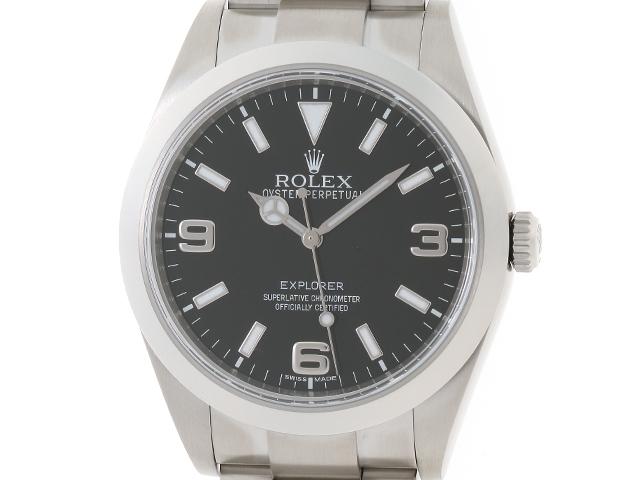 ROLEX 時計 エクスプローラー1 214270 ランダム番 オートマチック ブラック文字盤 メンズ SS【430】【中古】【大黒屋】