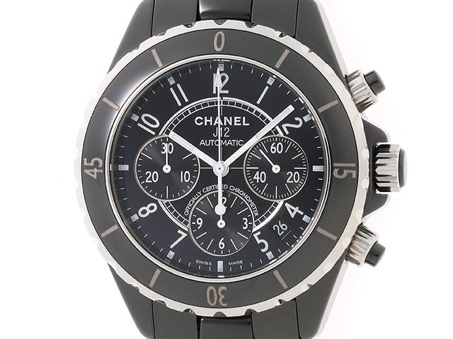 【送料無料】CHANEL シャネル 時計 J12クロノグラフ  H0940 ブラック セラミック オートマチック 178.0g【472】【中古】【大黒屋】