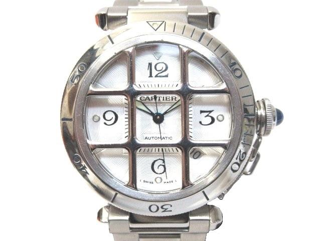 【送料無料】Cartier カルティエ パシャグリット W31059H3 メンズ腕時計 SS【430】【中古】【大黒屋】