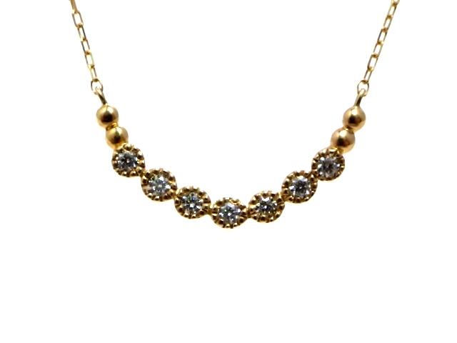 JEWELRY ノンブランドジュエリー K10PG ダイヤモンド ネックレス 【430】【中古】【大黒屋】