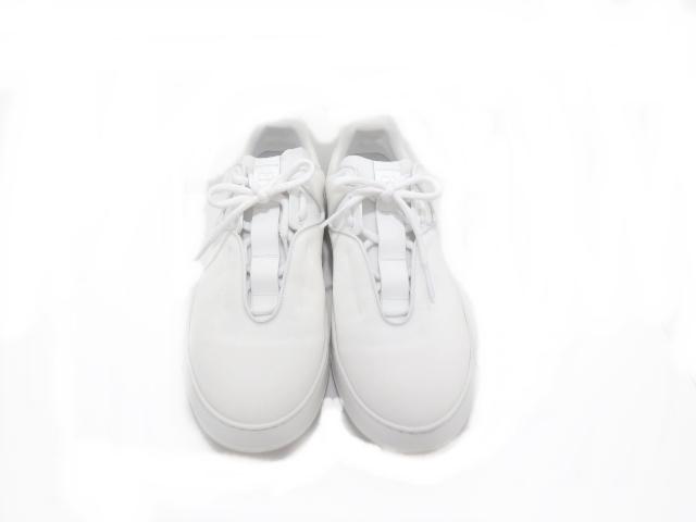 Dior Homme ディオール くつ 靴 スニーカー キャンバス 白 42【437】【中古】【大黒屋】