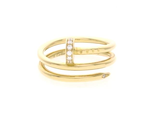 Cartier カルティエ ジュストアンクルリング K18 ダイヤモンド 5.3g 49号(日本サイズ約9号)  【436】【中古】【大黒屋】