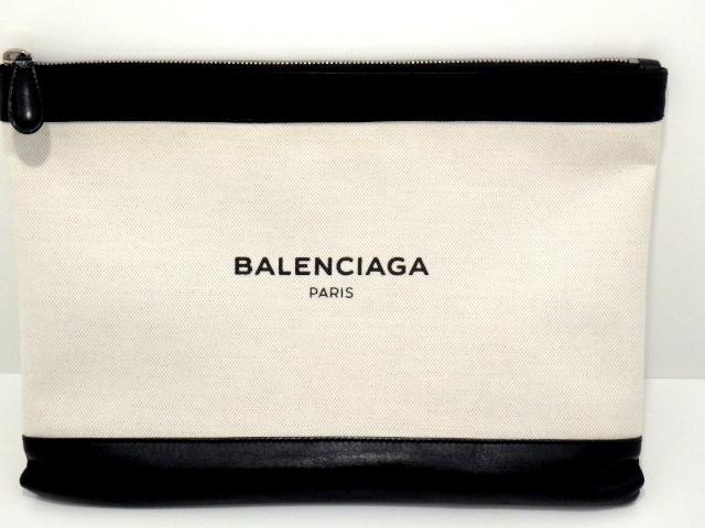 BALENCIAGA バレンシアガ バック クラッチバッグ クリップ キャンバス カーフ【437】【中古】【大黒屋】