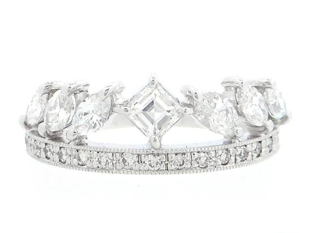 [送料無料]JEWELRY ノーブランドジュエリー リング 指輪 K18 ホワイトゴールド ダイヤモンド 13号 【474】【中古】【大黒屋】