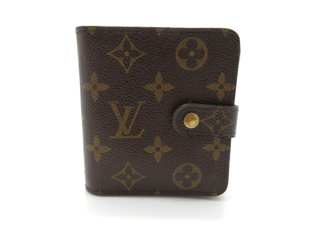 LOUIS VUITTON ルイ・ヴィトン 二つ折り財布 コンパクト・ジップ モノグラム M61667 【474】【中古】【大黒屋】