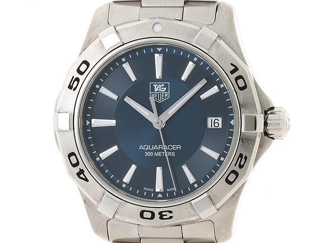 【送料無料】TAG HEUER 時計 アクアレーサー WAP1112 クオーツ SS ブルー文字盤【439】【中古】【大黒屋】
