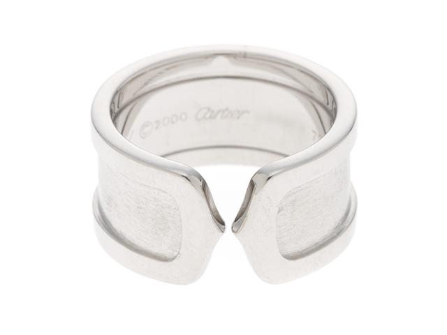 【送料無料】Cartier カルティエ リング 指輪 C2ワイドリング ホワイトゴールド 50号 11.0g 【205】【中古】【大黒屋】