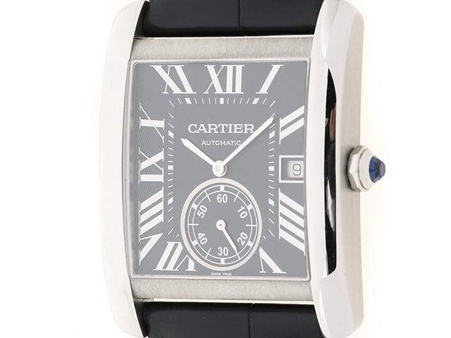【送料無料】Cartier カルティエ タンク MC WSTA0010 ステンレス ネイビー文字盤 メンズ時計 自動巻き 【437】【中古】【大黒屋】