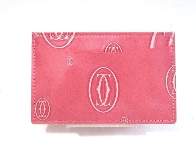 Cartier カルティエ カードケース ハッピーバースデー ピンク エナメル L3000953【413】【中古】【大黒屋】