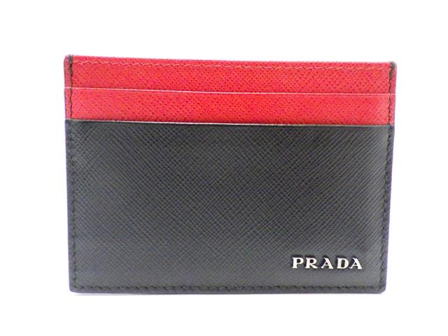 PRADA プラダ サイフ・小物 名刺入れ カードケース サフィアーノ【438】【中古】【大黒屋】