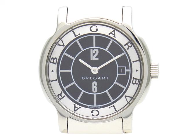 BVLGARI ブルガリ 時計 ソロテンポ ST29S SS クオーツ 黒文字盤 レディース 【438】【中古】【大黒屋】