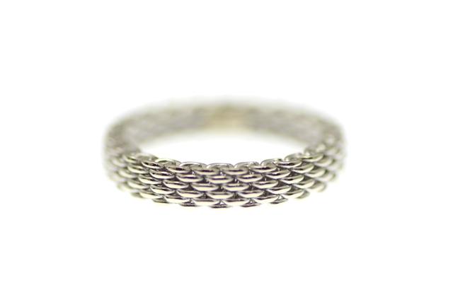 TIFFANY&CO ティファニー リング 指輪 サマセットリング ホワイトゴールド 12号 4.0g 【430】【中古】【大黒屋】