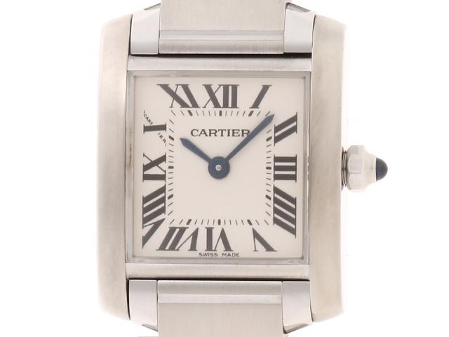 【送料無料】Cartier 時計 タンクフランセーズ クオーツ /SS/55.7g【205】【中古】【大黒屋】