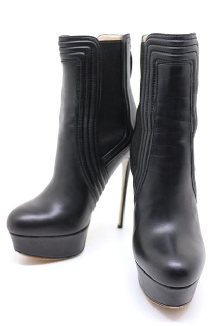 VALENTINO バレンチノ ブーツ ショートブーツ レディース 36ハーフ 約23.5cm ブラック レザー【200】【中古】【大黒屋】