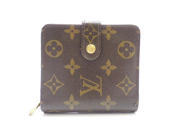 LOUIS VUITTON ルイヴィトン コンパクト・ジップ 財布 モノグラム M61667【438】【中古】【大黒屋】
