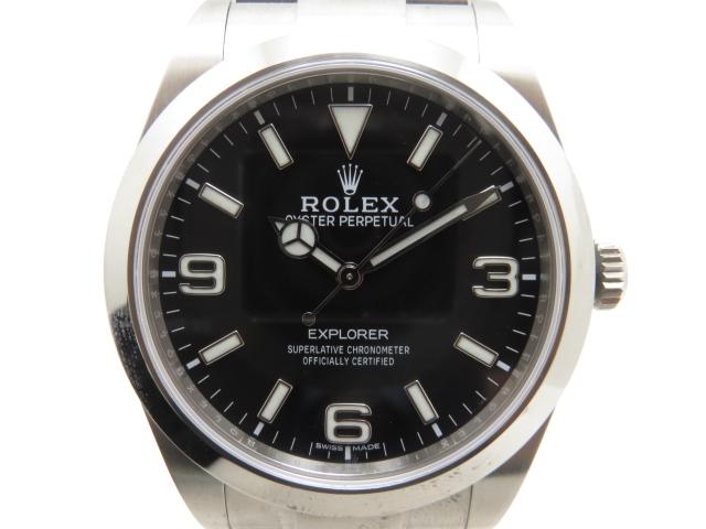 【送料無料】ROLEX ロレックス 時計 オートマチック エクスプローラー1 214270 ランダムシリアル 【431】【中古】【大黒屋】