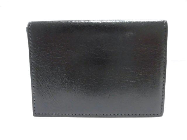 HERMES エルメス クルネゼー カードケース 3つ折 シェーブル ブラック【473】【中古】【大黒屋】