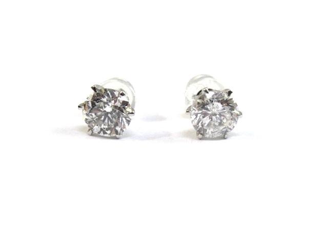 【送料無料】JEWELRY ノンブランド ピアス プラチナ900 ダイヤモンド【472】【中古】【大黒屋】
