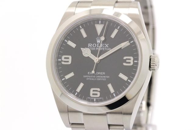 【送料無料】ROLEX ロレックス エクスプローラーI 214270 メンズ オートマチック ステンレス ブラック 【437】【中古】【大黒屋】