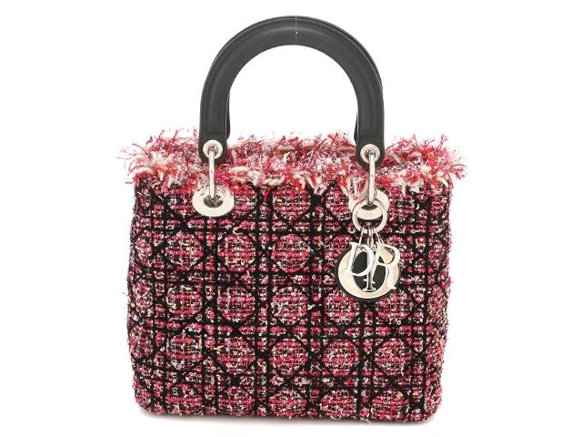 [送料無料]Dior ディオール バッグ レディーディオールハンドバッグ ピンクツイード【430】【中古】【大黒屋】